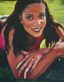 Portrait Of Florence Griffith Joyner By Paintingsbycr On